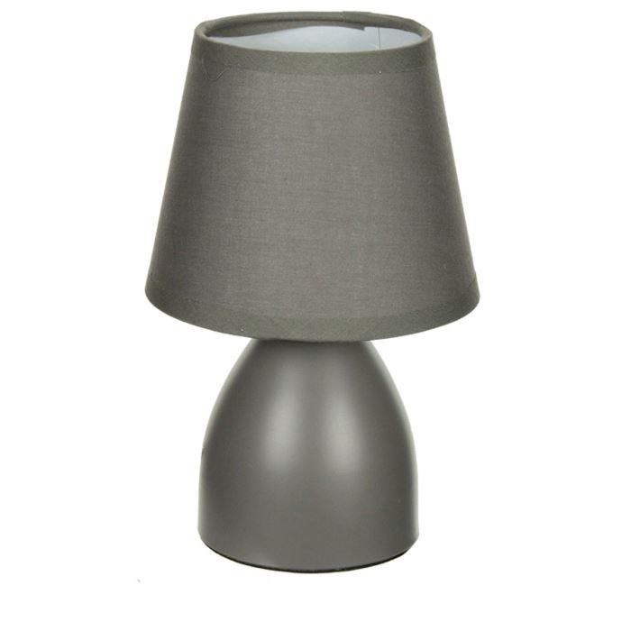 lampe de chevet d co 19cm gris achat vente lampe de chevet d co 19cm c ramique soldes. Black Bedroom Furniture Sets. Home Design Ideas