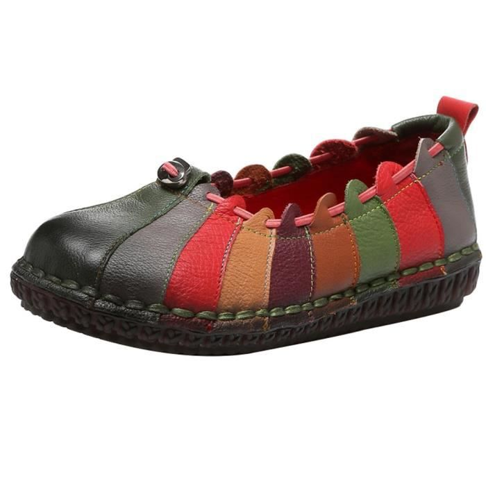 Round Toe Slip-on Flat Mocassins New Shoes UC5U8 Taille-37