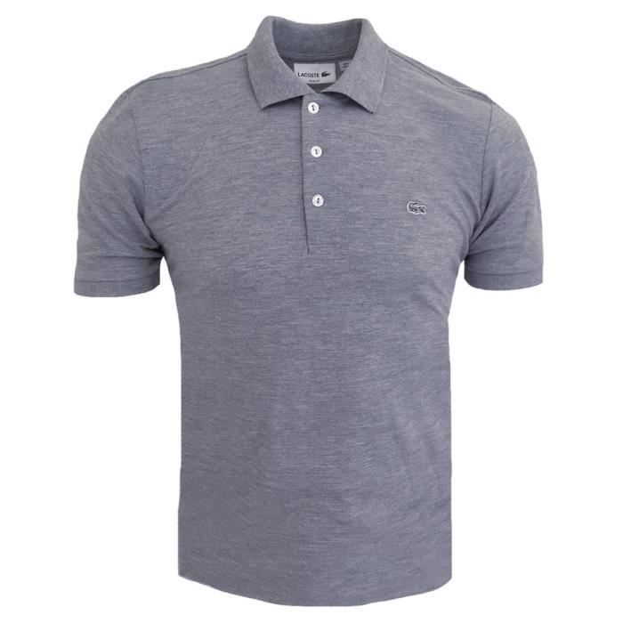 Polo Lacoste slim fit Polo homme gris chiné