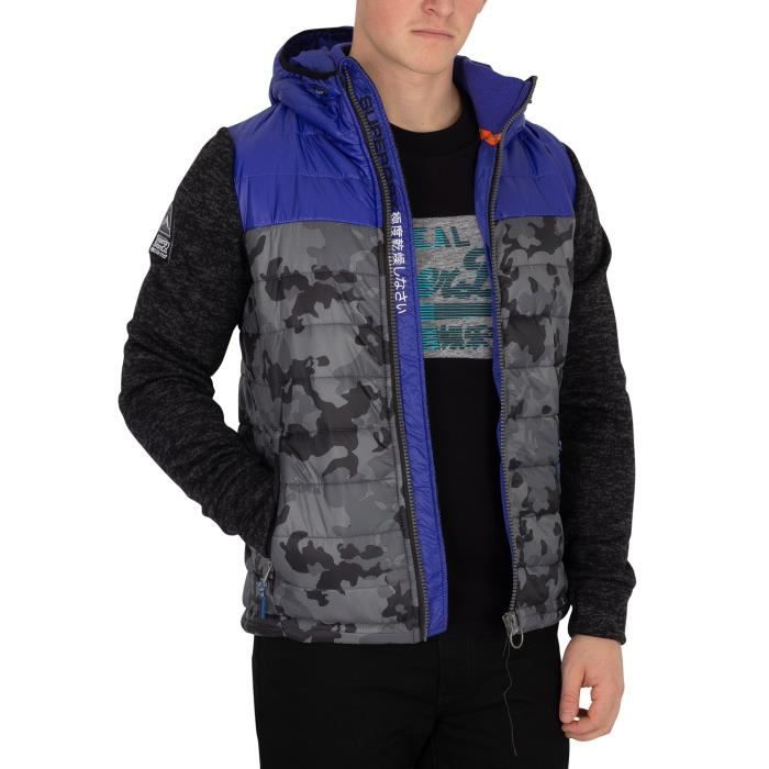 8a658cbcf8206 Superdry Homme Blouson camouflage hybride Storm, N