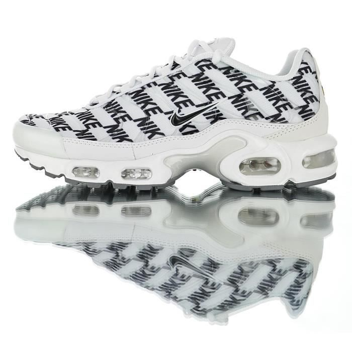 NIKE Baskets Air Max TN Plus Chaussures de Course homme blanc noir ...