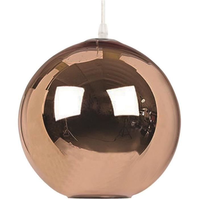 lampe suspension cuivre globe large 40 cm muno cuivre achat vente lampe suspension. Black Bedroom Furniture Sets. Home Design Ideas