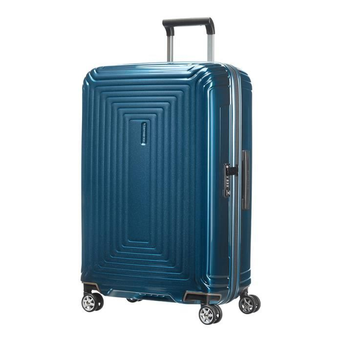 valise samsonite n opulse spinner 69 cm bleu m tal bleu bleu m tal achat vente valise. Black Bedroom Furniture Sets. Home Design Ideas