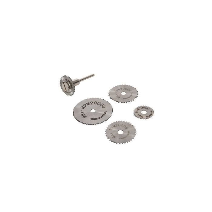 ACCESSOIRE MACHINE Disques de coupe en acier HSS 6 pièces - 22, 25, 3