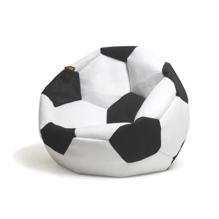 football pouf billes coloris noir blanc achat vente pouf poire cdiscount. Black Bedroom Furniture Sets. Home Design Ideas