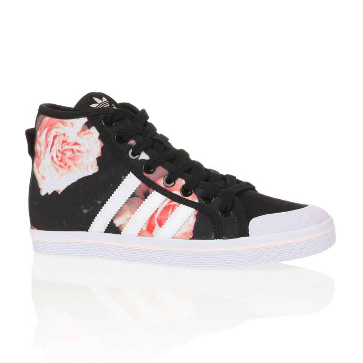 ADIDAS ORIGINALS Baskets Honey Stripes Mid Femme Noir ...