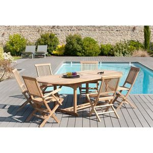 FAUTEUIL JARDIN  MACABANE 500969 JAVA Lot de 2 fauteuils de jardin