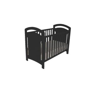 lit bebe noir achat vente lit bebe noir pas cher. Black Bedroom Furniture Sets. Home Design Ideas
