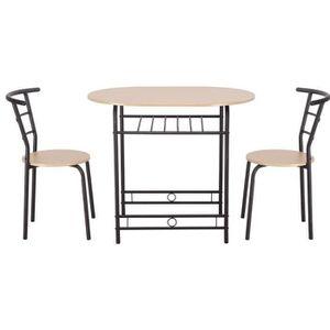 TABLE DE CUISINE  Table de Cuisine Ensemble 1 Table et 2 Chaises Sal