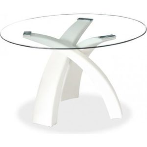 Table Ronde Laque Blanc