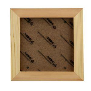 CADRE PHOTO Cadre photo Cadre photo carré en bois massif 5 pou