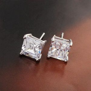 Hommes Single Boucles d/'oreilles Boucles d/'oreille blanc 750 diamant 0,10 ct or 18 ct NEUF