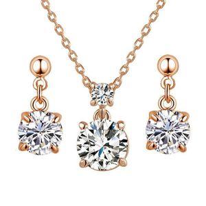 Femmes or blanc plaqué saphir Gemstone Drop Dangle Boucles d/'Oreilles Mariage Bijoux