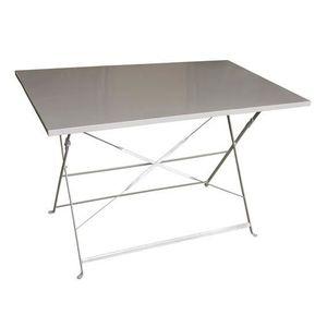 TABLE DE JARDIN  Table Camargue Métal 110 x 70 cm Taupe