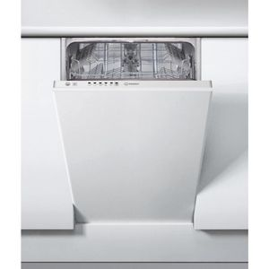 LAVE-VAISSELLE Indesit DSIE 2B10, Fully built-in, White, Slimline