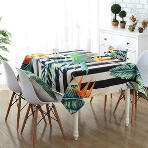 Nappe De Table Carre Imprime Epais Impermeable Anti Tache Pour