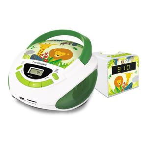 RADIO CD ENFANT Ensemble Jungle radio CD USB et radio-réveilieuse