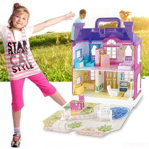 MAISON POUPÉE Maison de poupée avec meubles Maison Jeux Cadesu d