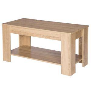 TABLE BASSE WOLTU Table Basse de salon en bois, Table à thé av
