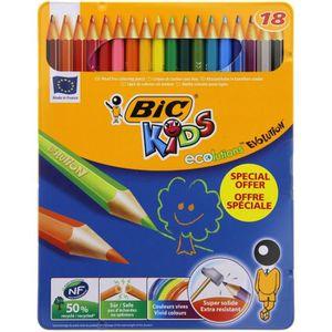 Boîte de classement BIC® - Lot de 18 Crayons de couleur Kids Évolution