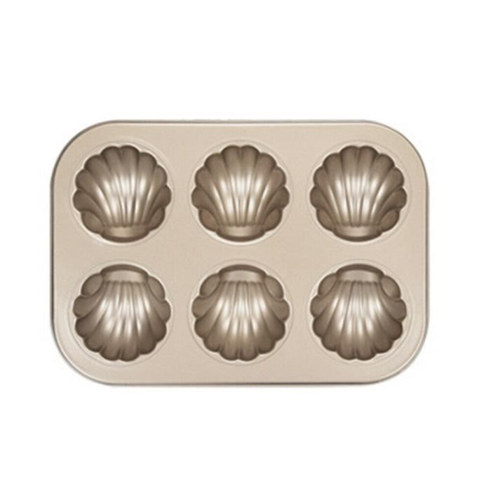 Mini moule à gâteau Madeleine, moule à biscuits ovale antiadhésif à 6 cavités A5778