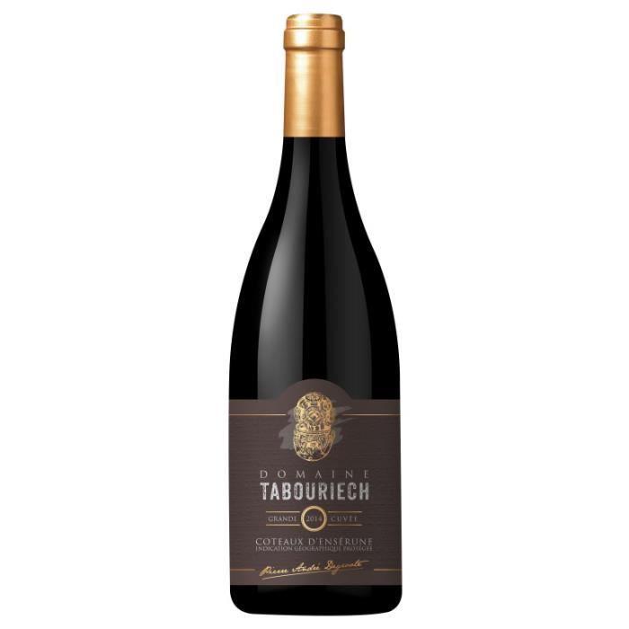 Domaine Tabouriech Grande Cuvée - 6 bouteilles - Vin Rouge IGP Coteaux d'Ensérune