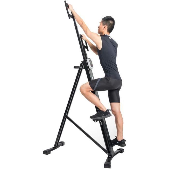 STEPPER Stepper Climber Machine d'Escalade Vertical Pliant vertical grimpeur exercice cardio cardio-training Machine Steel Stee420