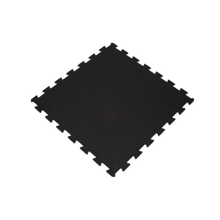 Sol pour salle de sport - Puzzle 100x100cm - épaisseur 6 mm - Noir