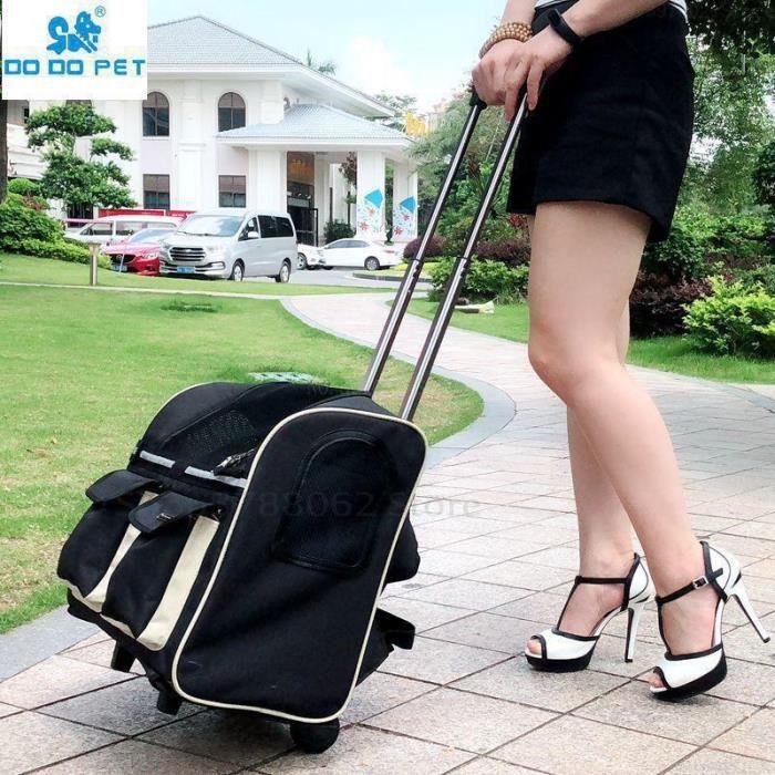 Sac de transport,Sac à roulettes Portable pour chien chat Sac à roulettes pour bagages de chien, sac de voyage pour - Type black-M