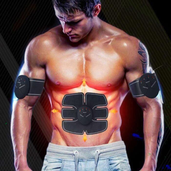 Electrostimulateur APPAREIL ABDO Musculation Abdominaux Bras Cuisses Ceinture abdo Appareil de Fitness pour Hommes Femmes