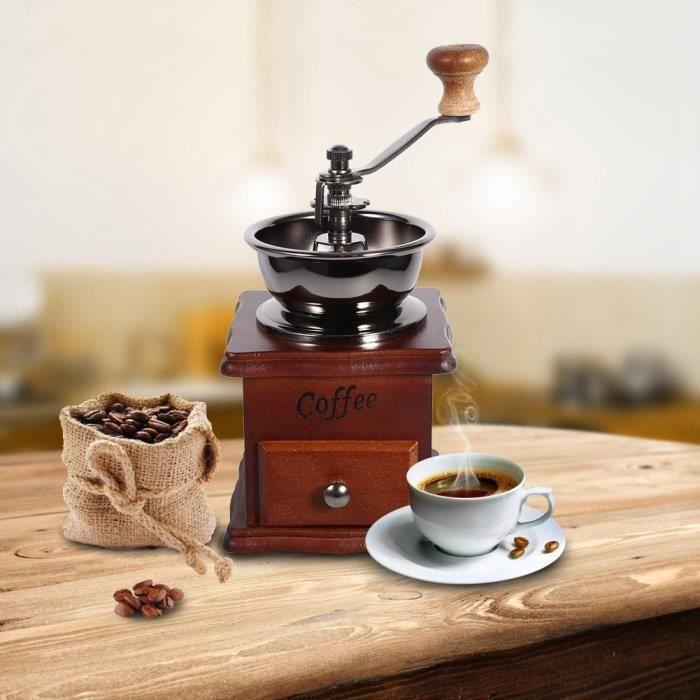 Machine à café à la main conception manuel d'utilisation à la main de moulin à café de grain de conception rétro -TUN