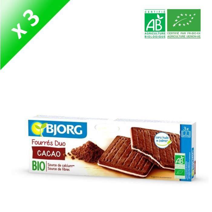 [LOT DE 3] BJORG Fourres Duo Cacao Bio 150g