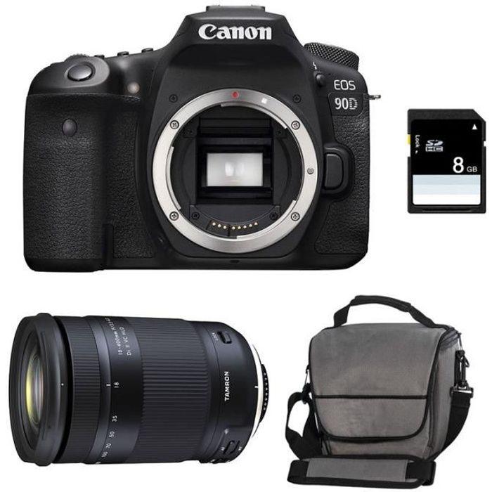 CANON EOS 90D + TAMRON 18-400 f/3.5-6.3 Di II VC HLD Garanti 3 ans + Sac + Carte SD 8Go