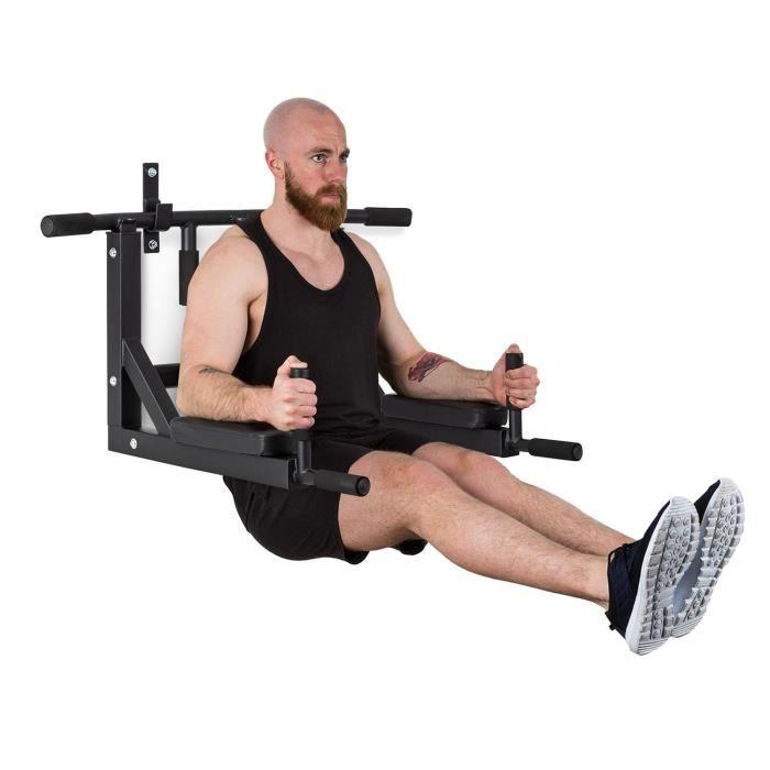 Station de traction multifonction - CAPITAL SPORTS Bouncer MultiGym - pour bras, épaules, dos, abdos et jambes - acier - noir