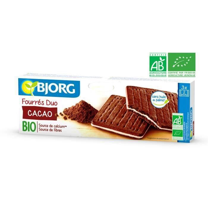 BJORG Fourres Duo Cacao Bio 150g