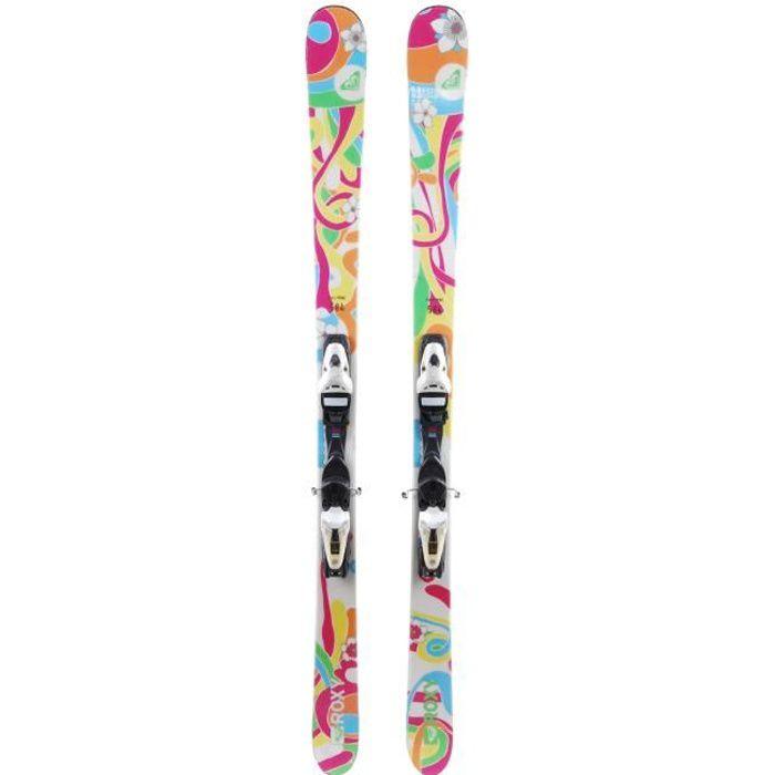 Ski Roxy fleurs + fixations