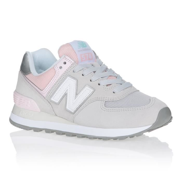 NEW BALANCE Baskets WL574SOT Gris/Rose Mixte