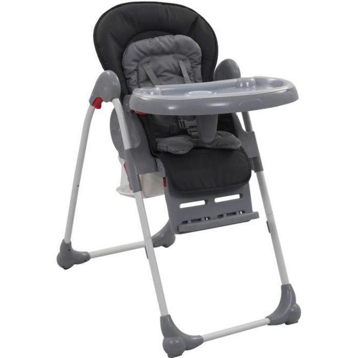 Chaise Haute pour Bébé de 6 Mois à 3 Ans Stable pour bébé Gris