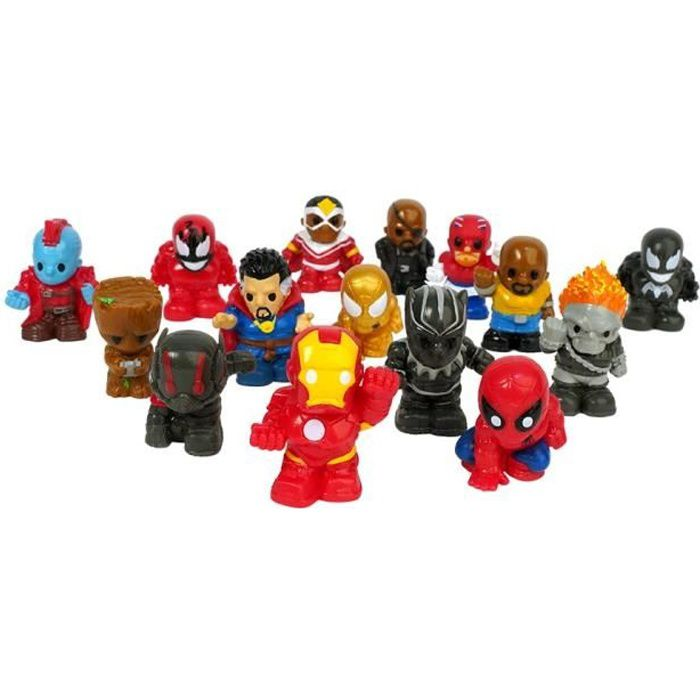 SPLASH TOYS - Ooshies - Pack XL de 6 figurines Marvel
