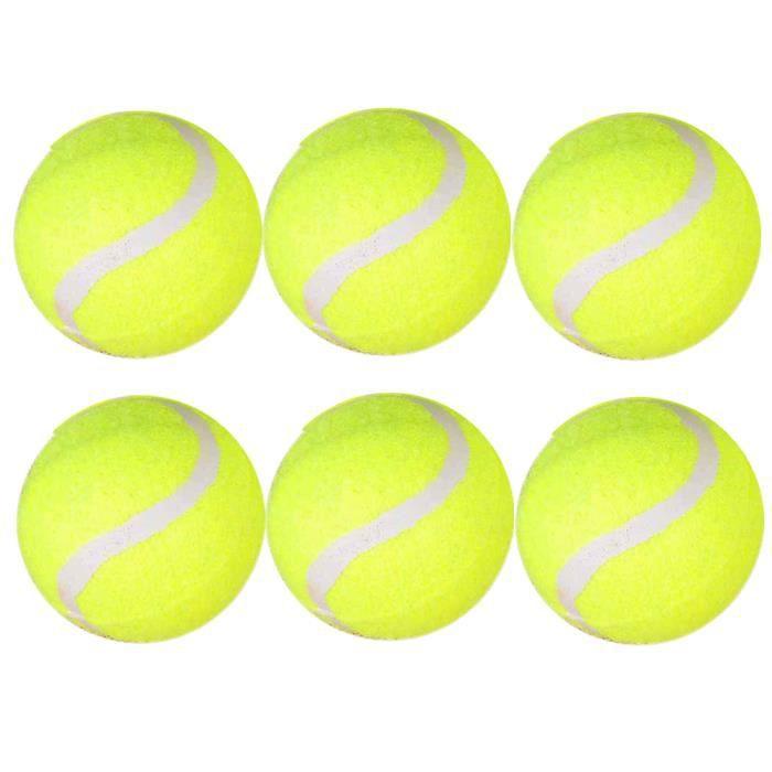 6 PCS haute élasticité balles de tennis pratique balles de tennis balles de tennis robustes pour l'exercice d'entraînement sportif