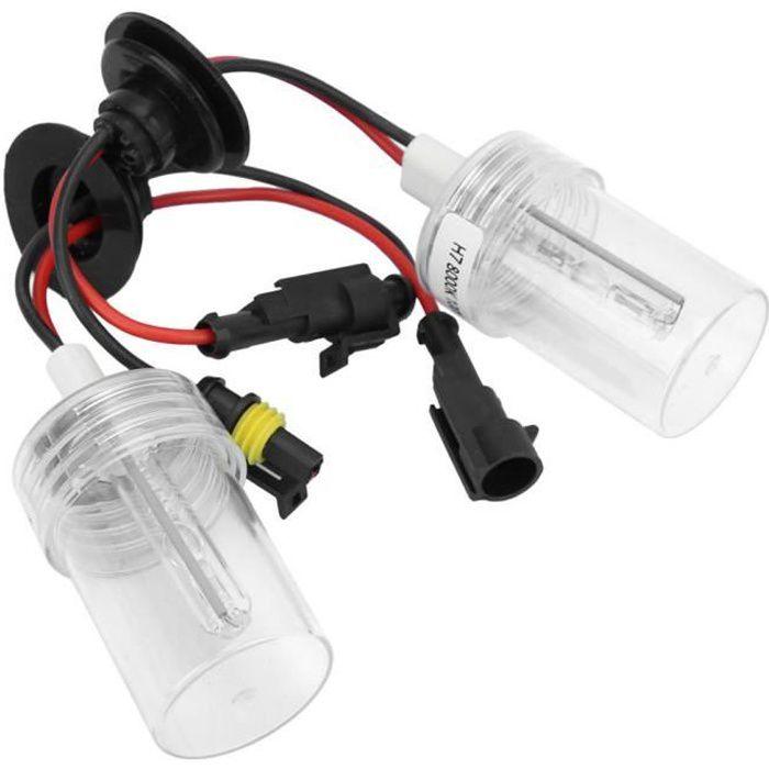 VINGVO Ampoules de phare 2 pièces Auto phare ampoule phare xénon HID 100W 8000K H7 prise pour véhicules 12V