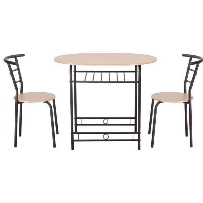 Table De Cuisine Ensemble 1 Table Et 2 Chaises Salle A Manger En