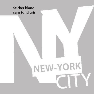stickers muraux new york sticker urbain 60 x 53 cm blanc achat vente stickers cdiscount. Black Bedroom Furniture Sets. Home Design Ideas