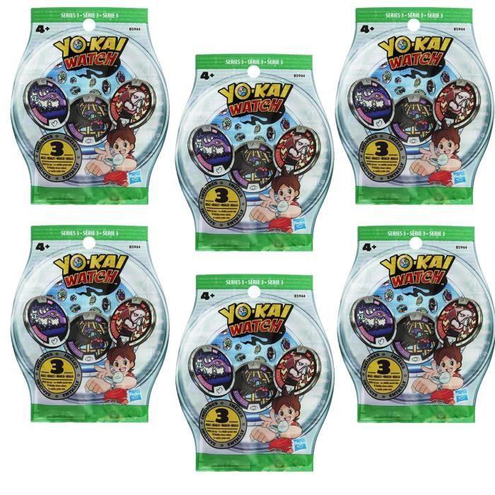ACCESSOIRE DE JEU Sachets de 3 médailles Yo-Kai Watch (Série 3) - x6