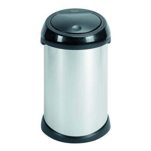 brabantia poubelle 50 litres touch bin steel br achat vente poubelle corbeille brabantia. Black Bedroom Furniture Sets. Home Design Ideas
