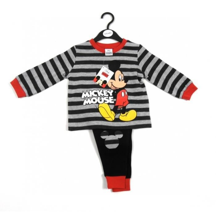 pyjama enfants gar ons mickey mouse 2 ans disney 2 pi ces. Black Bedroom Furniture Sets. Home Design Ideas