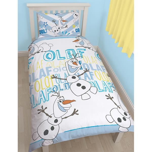 housse de couette olaf la reine des neiges achat vente housse de couette cdiscount. Black Bedroom Furniture Sets. Home Design Ideas