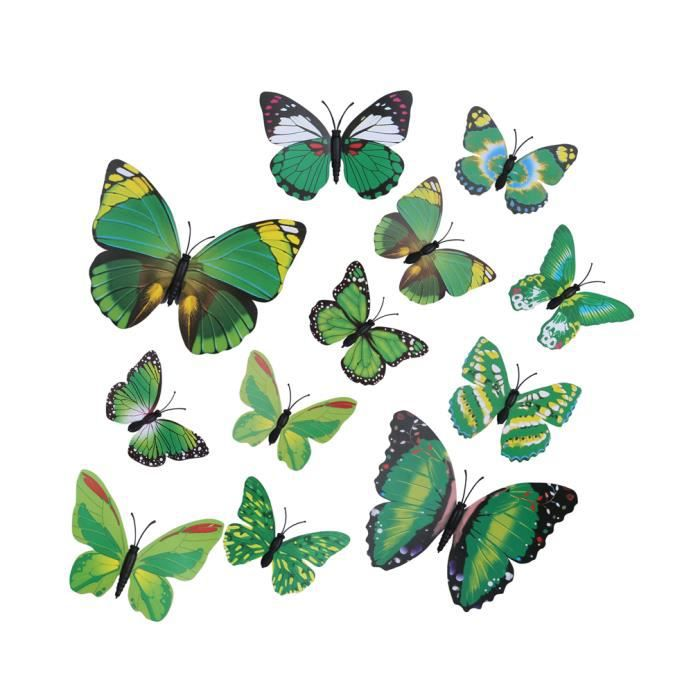 Ornement murale d coration 3d papillon stickers non for Decoration murale 3 suisses