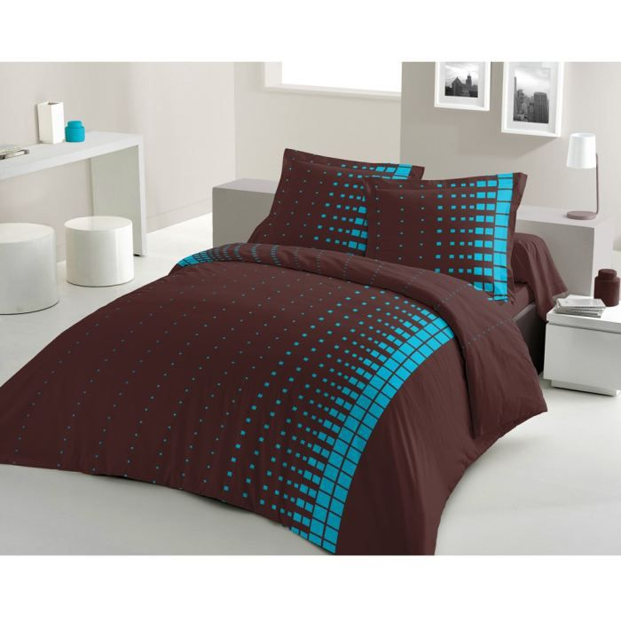 casatxu housse 240x260 2 taies road turquoise achat. Black Bedroom Furniture Sets. Home Design Ideas