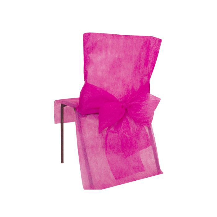 4 housses de chaise avec noeud tnt fushia achat vente. Black Bedroom Furniture Sets. Home Design Ideas